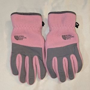 The North Face Pink & Gray Gloves Large